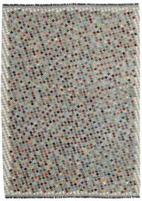 Ćilim Afghan Old Style Sag 169X234 Autentični  Orijentalni Ručno Tkani Svjetlosiva/Tamnosiva (Vuna, Afganistan)