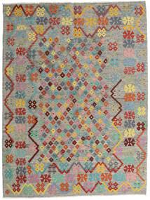 Ćilim Afghan Old Style Sag 185X245 Autentični Orijentalni Ručno Tkani Svjetlosiva/Tamnosiva (Vuna, Afganistan)