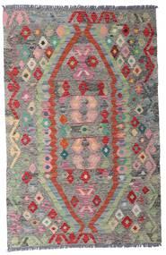 Ćilim Afghan Old Style Sag 96X149 Autentični Orijentalni Ručno Tkani Svjetlosiva/Tamnosiva (Vuna, Afganistan)