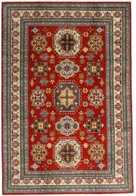 Kazak Sag 201X293 Autentični Orijentalni Ručno Uzlan Tamnocrvena/Tamnosiva (Vuna, Afganistan)