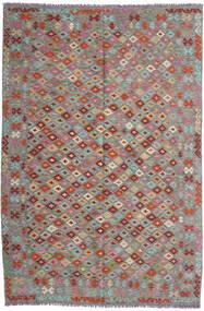 Ćilim Afghan Old Style Sag 199X296 Autentični Orijentalni Ručno Tkani Tamnosiva/Svjetlosiva (Vuna, Afganistan)