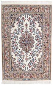 Isfahan Svileni Navoji Potpisan Intashari Sag 109X166 Autentični Orijentalni Ručno Uzlan Svjetlosiva/Bijela/Krem (Vuna/Svila, Perzija/Iran)