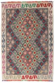 Ćilim Afghan Old Style Sag 98X145 Autentični Orijentalni Ručno Tkani Svjetlosiva/Tamnosmeđa (Vuna, Afganistan)
