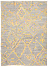 Ćilim Ariana Sag 208X287 Autentični Moderni Ručno Tkani Svjetlosiva/Bež (Vuna, Afganistan)