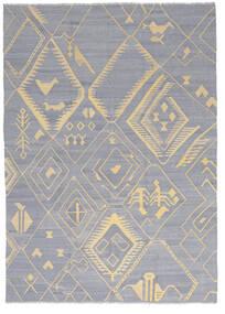 Ćilim Ariana Sag 205X286 Autentični  Moderni Ručno Tkani Svjetlosiva/Tamna Bež (Vuna, Afganistan)
