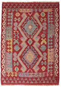Ćilim Afghan Old Style Sag 106X147 Autentični Orijentalni Ručno Tkani Tamnocrvena/Hrđavo Crvena (Vuna, Afganistan)