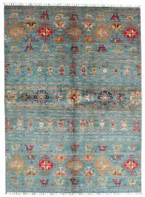 Shabargan Sag 172X235 Autentični  Moderni Ručno Uzlan Plava/Tamnozelena (Vuna, Afganistan)