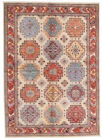 Kazak Sag 170X236 Autentični Orijentalni Ručno Uzlan Svjetlosmeđa/Bež (Vuna, Afganistan)