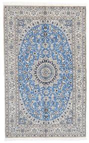 Nain 9La Sag 160X258 Autentični  Orijentalni Ručno Uzlan Svjetlosiva/Bijela/Krem (Vuna/Svila, Perzija/Iran)