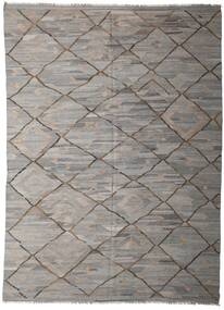 Ćilim Ariana Sag 253X342 Autentični  Moderni Ručno Tkani Svjetlosiva/Tamnosiva Veliki (Vuna, Afganistan)