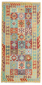 Ćilim Afghan Old Style Sag 100X202 Autentični  Orijentalni Ručno Tkani (Vuna, Afganistan)