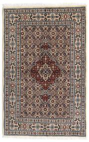 Moud Sag 80X122 Autentični Orijentalni Ručno Uzlan Tamnosmeđa/Bež (Vuna/Svila, Perzija/Iran)