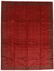 Turkaman Sag 302X388 Autentični Orijentalni Ručno Uzlan Hrđavo Crvena/Tamnocrvena Veliki (Vuna, Perzija/Iran)
