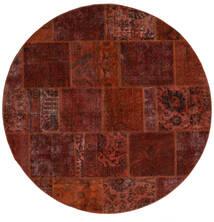 Patchwork - Persien/Iran Sag Ø 200 Autentični  Moderni Ručno Uzlan Okrugli Tamnosmeđa/Tamnocrvena (Vuna, Perzija/Iran)