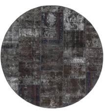 Patchwork - Persien/Iran Sag Ø 200 Autentični  Moderni Ručno Uzlan Okrugli Crna/Smeđa (Vuna, Perzija/Iran)