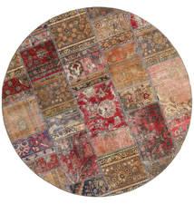 Patchwork - Persien/Iran Sag Ø 200 Autentični  Moderni Ručno Uzlan Okrugli Smeđa/Tamnocrvena (Vuna, Perzija/Iran)
