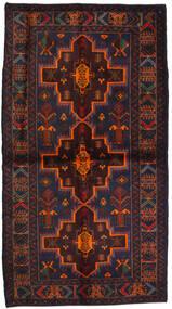 Beluch Sag 115X195 Autentični Orijentalni Ručno Uzlan Crna/Tamnocrvena (Vuna, Afganistan)