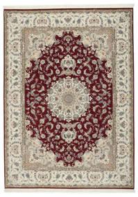 Tabriz 50 Raj Sa Svilom Sag 248X347 Autentični Orijentalni Ručno Uzlan Svjetlosiva/Tamnocrvena (Vuna/Svila, Perzija/Iran)