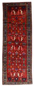 Hamadan Sag 112X330 Autentični  Orijentalni Ručno Uzlan Staza Za Hodnik  Tamnocrvena/Hrđavo Crvena/Crna (Vuna, Perzija/Iran)