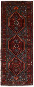 Hamadan Sag 100X261 Autentični  Orijentalni Ručno Uzlan Staza Za Hodnik  Crna/Tamnocrvena (Vuna, Perzija/Iran)