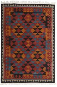 Ćilim Isparta Sag 160X230 Autentični  Moderni Ručno Tkani Tamnocrvena/Crna (Vuna, Indija)