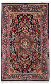 Kerman Sag 90X149 Autentični Orijentalni Ručno Uzlan Tamnosiva/Tamnoplava (Vuna, Perzija/Iran)