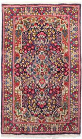 Kerman Sag 91X150 Autentični  Orijentalni Ručno Uzlan Tamnocrvena/Tamnoljubičasta (Vuna, Perzija/Iran)