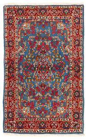 Kerman Sag 92X149 Autentični Orijentalni Ručno Uzlan Tamnocrvena/Plava (Vuna, Perzija/Iran)