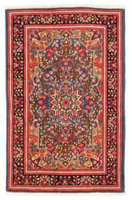 Kerman Sag 117X184 Autentični Orijentalni Ručno Uzlan Hrđavo Crvena/Bijela/Krem (Vuna, Perzija/Iran)
