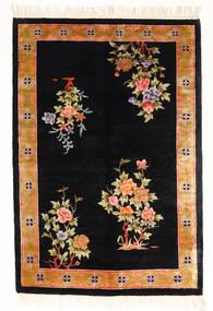 China Art Svila 120 Line Sag 122X183 Autentični Orijentalni Ručno Uzlan Crna/Bijela/Krem ( Kina)