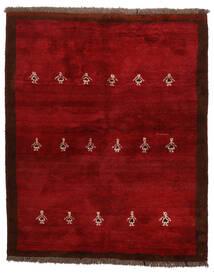Gabbeh Persia Sag 155X190 Autentični  Moderni Ručno Uzlan Tamnocrvena/Grimizno Crvena (Vuna, Perzija/Iran)