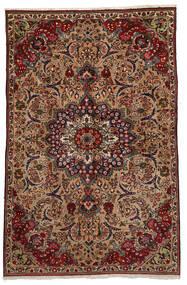 Tabriz Sag 151X233 Autentični  Orijentalni Ručno Uzlan Tamnosmeđa/Svjetlosmeđa (Vuna, Perzija/Iran)