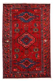 Hamadan Sag 130X203 Autentični  Orijentalni Ručno Uzlan Tamnocrvena/Grimizno Crvena (Vuna, Perzija/Iran)