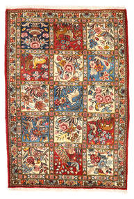 Bakhtiari Collectible Sag 110X157 Autentični Orijentalni Ručno Uzlan Tamnosiva/Bež (Vuna, Perzija/Iran)
