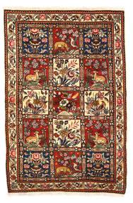 Bakhtiari Collectible Sag 115X170 Autentični Orijentalni Ručno Uzlan Tamnosmeđa/Bijela/Krem (Vuna, Perzija/Iran)