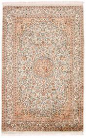 Kashmir Čista Svila Sag 98X152 Autentični  Orijentalni Ručno Uzlan Bež/Tamnosmeđa (Svila, Indija)