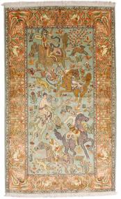 Kashmir Čista Svila Sag 93X155 Autentični Orijentalni Ručno Uzlan Tamna Bež/Smeđa (Svila, Indija)