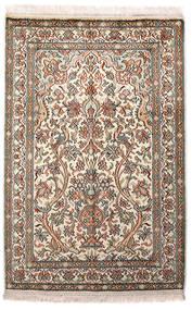 Kashmir Čista Svila Sag 64X96 Autentični Orijentalni Ručno Uzlan Svjetlosiva/Bež (Svila, Indija)