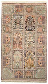 Kashmir Čista Svila Sag 93X156 Autentični  Orijentalni Ručno Uzlan Bež/Smeđa (Svila, Indija)
