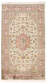 Kashmir Čista Svila Sag 94X164 Autentični  Orijentalni Ručno Uzlan Bež/Smeđa (Svila, Indija)