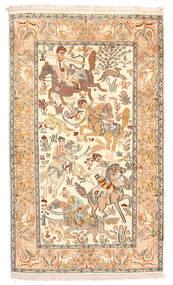Kashmir Čista Svila Sag 92X154 Autentični  Orijentalni Ručno Uzlan Bež/Tamna Bež (Svila, Indija)