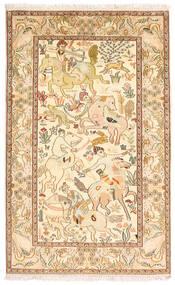 Kashmir Čista Svila Sag 94X152 Autentični  Orijentalni Ručno Uzlan Smeđa/Žuta (Svila, Indija)