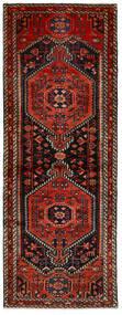 Hamadan Sag 80X217 Autentični Orijentalni Ručno Uzlan Staza Za Hodnik Crna/Tamnocrvena (Vuna, Perzija/Iran)