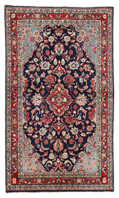 Sarough Sag 130X226 Autentični Orijentalni Ručno Uzlan Tamnoljubičasta/Tamnocrvena (Vuna, Perzija/Iran)