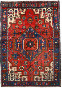 Nahavand Sag 133X193 Autentični Orijentalni Ručno Uzlan Crna/Tamnocrvena (Vuna, Perzija/Iran)
