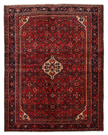Hosseinabad Sag 150X194 Autentični Orijentalni Ručno Uzlan Tamnocrvena/Tamnosmeđa (Vuna, Perzija/Iran)