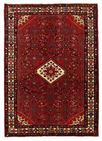 Hosseinabad Sag 140X200 Autentični  Orijentalni Ručno Uzlan Tamnocrvena/Tamnosmeđa (Vuna, Perzija/Iran)