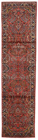 Lillian Sag 77X303 Autentični Orijentalni Ručno Uzlan Staza Za Hodnik Tamnocrvena/Tamnosmeđa (Vuna, Perzija/Iran)