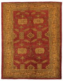 Oriental Overdyed Sag 144X183 Autentični Moderni Ručno Uzlan Tamnosmeđa/Tamnocrvena/Bež (Vuna, Perzija/Iran)
