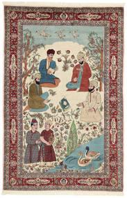 Sarough Sag 143X213 Autentični Orijentalni Ručno Uzlan Bež/Tamnosmeđa (Vuna/Svila, Perzija/Iran)